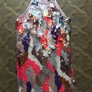 French Connection sequin shift dress